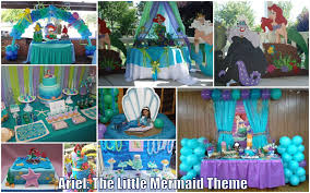 Up Decorations Ariel The Mermaid Theme For Reaux S Christening Rana S