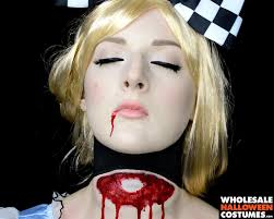 Makeup For Halloween Costumes by Decapitated Alice Makeup Tutorial Wholesale Halloween Costumes Blog
