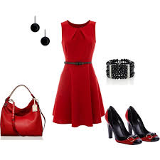 casual girls red dress in fashion show collection gossip style