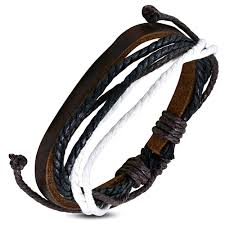 bracelet cuir homme images Bracelet homme en cuir zense zb0062 avec cordes multi couleurs jpg