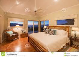 modern cozy bedroom wooden floor stock photo image 42832083