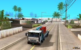 mitsubishi fuso crane 8 x 4 for gta san andreas