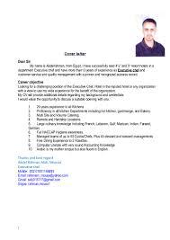 Cover Letter For Chef Cv Executive Chef Abdelrahman Mousa