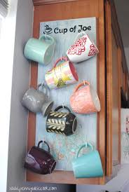 under cabinet coffee mug rack 30 fun and practical diy coffee mugs storage ideas for your home