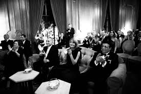 glamorous downtown winter wedding los angeles california by