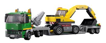 amazon com lego city excavator transport 4203 lego city toys