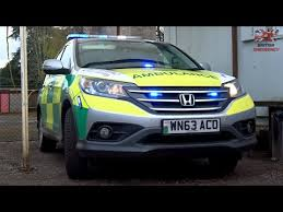 honda crv blue light ambulance service honda cr v rrv blue light demo