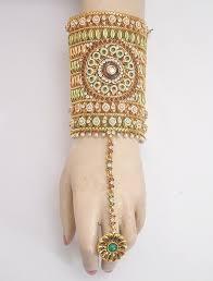 bracelet ring online images Polki imitation jewellery bracelet with ring attached exotic jpg