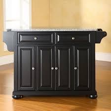 crosley furniture alexandria solid granite top kitchen island