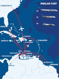 World Map Aruba by Inselair World Airline News