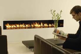 Sparks Fireplace - linear flame scape by spark modern fires 3rings
