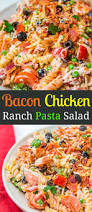 pasta salda easy bacon chicken ranch pasta salad oh sweet basil