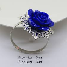 blue rose rings images New blue roses napkin ring silver decorative iron napkin rings jpg