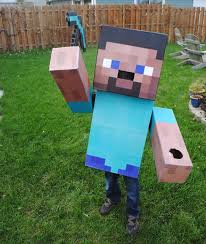 Minecraft Enderman Halloween Costume Minecraft Steve Costume 6 Steps Pictures