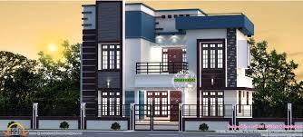 1689 sq ft 4 bedroom flat roof villa architecture kerala home
