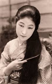 how to style hair for 1900 unknown japanese lady with long hair vintage woman japanese