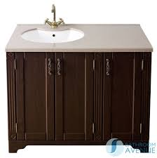 Traditional Bathroom Vanity Units Uk Traditional Freestanding Vanity Unit Wenge With Resin Basin