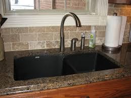 cabinet brown kitchen sink tropic brown granite black silgranit