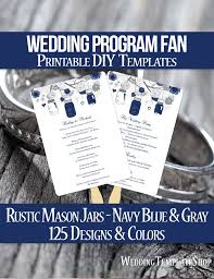 how to print wedding programs 55 best wedding program fans diy printable templates images on