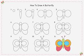 how to draw a butterfly by for