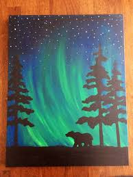 paintings to paint northern light canvas painting ideas home furniture ideas