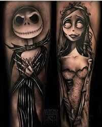 cool tattoo sleeves for girls amazing the nightmare before christmas tattoo tattoo stuff