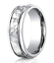 mens wedding band designers designer cobalt chrome men s wedding band hammered finish 7mm