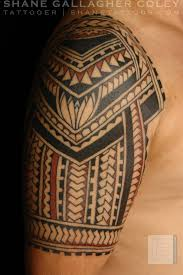 shane tattoos polynesian half sleeve