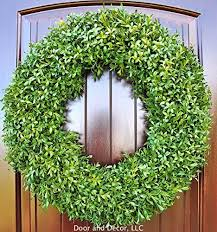 artificial boxwood wreath green faux boxwood wreath in 22 24 inch diameter for