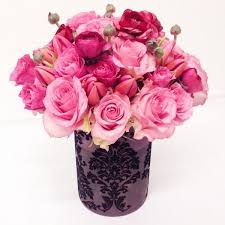 Designer Flower Delivery Flower Delivery Nyc Pink Hearts Roses U0026 Tulips Flowers By