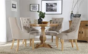 Oak Dining Table And Fabric Chairs Ship From Uk Cravog Cavendish Oak Dining Table And 4 Fabric