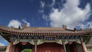 roof decorations roof decorations on the territory giant wild goose pagoda is a