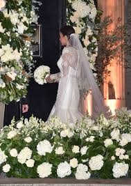 wedding dress daily christine bleakley wears 10k dress to wedding to frank lard in