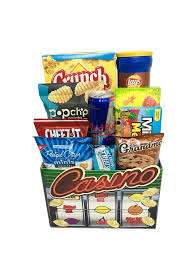 food gift delivery the vegas junk food gift basket is available for same day delivery