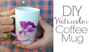 Design Mugs by Watercolor Coffee Mugs Easy Diy Gifts Youtube