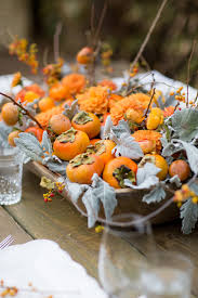 a pretty persimmon fall centerpiece the sweetest occasion