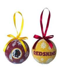 washington redskins glass ornament set washington redskins