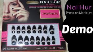 nailhur press on nails demo youtube