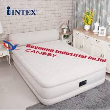 Air Mattress With Headboard Intex Dura Beam Ultra Plush Airbed Deluxe Bed