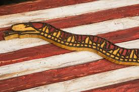 First Navy Jack Flag Navy Jack Don U0027t Tread On Me Limited Edition Weathered Wood One