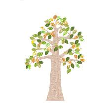 vintage wallpaper tree decal by baby company