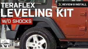 2012 jeep wrangler leveling kit jeep wrangler teraflex leveling kit w o shocks 2007 2016 jk