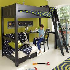 High Sleeper With Futon Warwick Children S High Sleeper Bed With Futon Prussian Blue