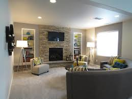 campbell homes carnegie ranch style basement fireplace