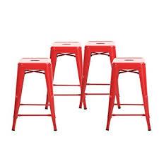 amazon com buschman set of four 4 bar stools 24 inches high
