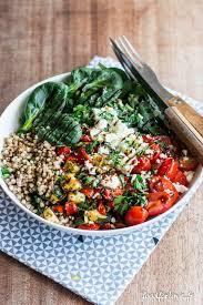 cuisiner sarrasin assiette complète sarrasin fêta légumes grillés épinards