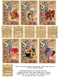 seed packets altered artifacts free antique flower seed packets printable