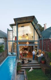 dream house with amazing small pool in australia lawn sunshine