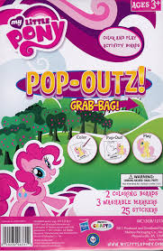 amazon com my little pony pop out color and play activity boards