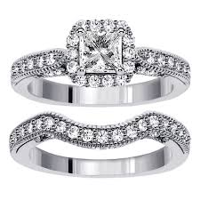 wedding sets for 1 carat vintage princess cut diamond wedding ring set for women